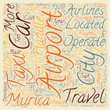 Word Cloud Text Background Concept. The Airport Of Murcia And How To Get Around text background wordcloud concept Royalty Free Stock Image