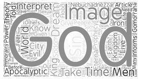 Word Cloud Text Background Concept. Apocalyptic Image of Prophecy text background word cloud concept Stock Photography