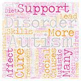 Word Cloud Text Background Concept. Autism Is There A Cure In Sight text background wordcloud concept Stock Image