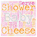 Word Cloud Text Background Concept. Baby Shower Recipes Food Ideas For Your Shower text background wordcloud concept royalty free stock photos