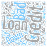 Word Cloud Text Background Concept. Bad Credit No Money Down Loans Help Within Reach text background wordcloud concept stock photos