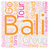 Word Cloud Text Background Concept. Bali What To Do And Where To Go text background wordcloud concept royalty free illustration