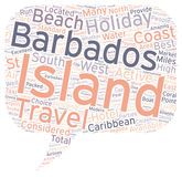 Word Cloud Text Background Concept. Barbados Holidays text background wordcloud concept royalty free illustration