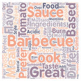 Word Cloud Text Background Concept. Barbecue Sauce For A Perfect Barbeque text background wordcloud concept vector illustration