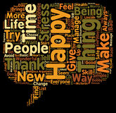 Word Cloud Text Background Concept. Be happy text background wordcloud concept Royalty Free Stock Photo