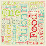 Word Cloud Text Background Concept. The Best Food Cuba Has To Offer text background wordcloud concept stock illustration