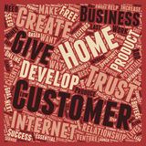 Word Cloud Text Background Concept. The Best Way To Develop A Customer text background wordcloud concept Royalty Free Stock Photo