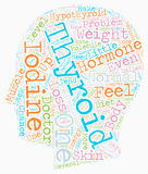Word Cloud Text Background Concept. Blame It On Iodine text background wordcloud concept stock images