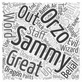 Word Cloud Text Background Concept. The Brand New Wizard text background wordcloud concept Stock Images