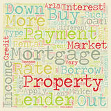 Word Cloud Text Background Concept. Buy to let mortgages long term investment on the concrete structure text background wordcloud concept Stock Images