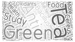 Word Cloud Text Background Concept. Can Tea Help Prevent Food Poison text background word cloud concept Stock Image