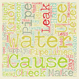 Word Cloud Text Background Concept. Check For Leaks Conserve Water And Save Money text background wordcloud concept Stock Image