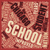 Word Cloud Text Background Concept. Chicago Schools See Positive Nclb Outcomes text background wordcloud concept stock image