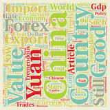 Word Cloud Text Background Concept. Chinese Yaun The Powder Keg Currency text background wordcloud concept Stock Image