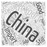 Word Cloud Text Background Concept. Chinese Yuan The Powder Keg Currency text background wordcloud concept Royalty Free Stock Photography
