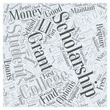 Word Cloud Text Background Concept. College money scholarship word cloud concept Royalty Free Stock Photos