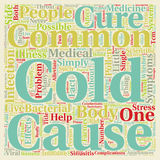 Word Cloud Text Background Concept. The Common Cold Can t Live With It Can t Live Without It text background wordcloud concept Royalty Free Stock Images