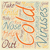 Word Cloud Text Background Concept. Common Cold in Children 1 text background wordcloud concept Royalty Free Stock Photos