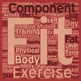 Word Cloud Text Background Concept. Components of Physical Fitness text background wordcloud concept Royalty Free Stock Images