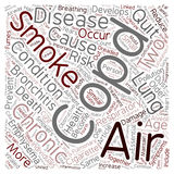 Word Cloud Text Background Concept. COPD Respiratory Ailment Explained text background wordcloud concept Royalty Free Stock Image