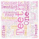 Word Cloud Text Background Concept. Cosmetic Dentistry A Closer Look text background wordcloud concept vector illustration