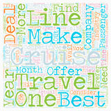 Word Cloud Text Background Concept. Cruise deals text background wordcloud concept Stock Images