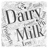 Word Cloud Text Background Concept. Dairy products and the pH miracle diet word cloud concept Royalty Free Stock Photo