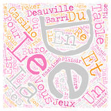 Word Cloud Text Background Concept. Deauville La Magnifique text background wordcloud concept vector illustration