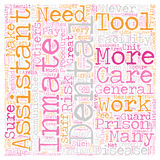 Word Cloud Text Background Concept. Dental Assistants in Prisons 1 text background wordcloud concept Stock Image