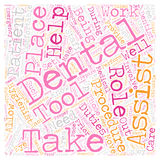 Word Cloud Text Background Concept. Dental Assistants 1 text background wordcloud concept Royalty Free Stock Image