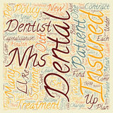 Word Cloud Text Background Concept. Dental Insurance The Nhs In Dental Shambles text background wordcloud concept Royalty Free Stock Photos