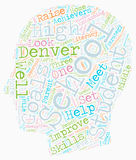 Word Cloud Text Background Concept. Denver Schools A Closer Look text background wordcloud concept stock illustration
