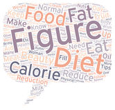 Word Cloud Text Background Concept. Diet Tips for a Beautiful Female Figure text background wordcloud concept Royalty Free Stock Photo