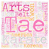 Word Cloud Text Background Concept. The Difference Between Karate and Tae Kwon Do text background wordcloud concept Stock Photography
