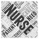 Word Cloud Text Background Concept. The Different Nursing Careers in Houston word cloud concept Stock Photo