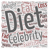 Word Cloud Text Background Concept. Do Popular Fad Diets Work text background wordcloud concept Stock Photography