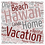 Word Cloud Text Background Concept. Experience Hawaii With A Hawaii Beach Rental text background wordcloud concept stock illustration