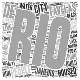 Word Cloud Text Background Concept. The Favelas Of Rio De Janeiro text background wordcloud concept royalty free illustration