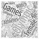 Word Cloud Text Background Concept. Female Athletes to Watch in the Beijing Olympics word cloud concept Royalty Free Stock Images