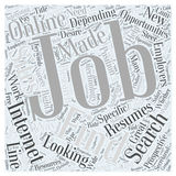 Word Cloud Text Background Concept. Finding Jobs Online word cloud concept Royalty Free Stock Image