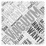 Word Cloud Text Background Concept. Flashy Vacuum Cleaners word cloud concept Stock Photography