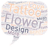 Word Cloud Text Background Concept. Flower Tattoos What Do They Mean text background wordcloud concept stock photography