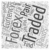 Word Cloud Text Background Concept. Forex trading advice word cloud concept Royalty Free Stock Photography
