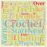 Word Cloud Text Background Concept. Free crochet pattern text background wordcloud concept Royalty Free Stock Images