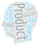 Word Cloud Text Background Concept. Gluten Inedible Products text background wordcloud concept Royalty Free Stock Photos