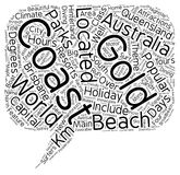 Word Cloud Text Background Concept. The Gold Coast Queensland Australia The Holiday Capital text background wordcloud concept vector illustration