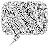 Word Cloud Text Background Concept. Good Employers Want a Balance of Assertiveness and Agressiveness How to Cultivate that Vital Balance text background royalty free illustration