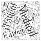 Word Cloud Text Background Concept. Health and Medical Careers word cloud concept Stock Photography