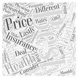 Word Cloud Text Background Concept. How to Choose the Best Health Insurance for You word cloud concept Stock Image
