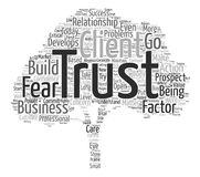 Word Cloud Text Background Concept. How To Cultivate The Trust Factor In Business text background word cloud concept Stock Image